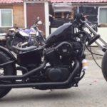 крутой тюнингованый черный honda-steed-400