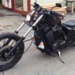 тюнингованный черный honda-steed-400